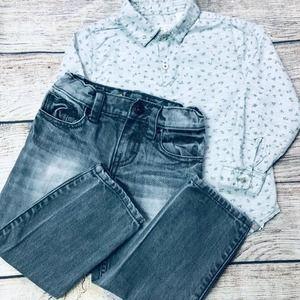 Tucker+Tate Jeans & Zara Shirt Set